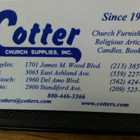 Photo taken at Cotter Church Supplies by Steve O. on 2/2/2012