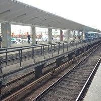 Photo taken at metro Vykhino by Tatiana S. on 4/9/2012