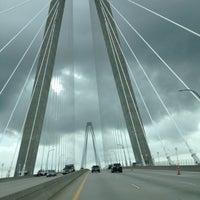 Photo taken at Arthur Ravenel Jr. Bridge by Rebecca F. on 8/10/2012