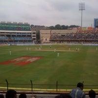 Photo taken at Rajiv Gandhi Cricket Stadium by Amit A. on 8/26/2012