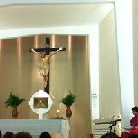 Photo taken at Paróquia Santa Mônica by Simone P. on 4/1/2012
