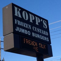 Photo taken at Kopp's Frozen Custard by Steven L. on 8/6/2012