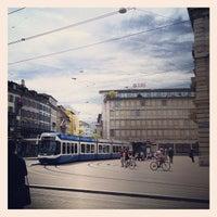 Photo taken at Paradeplatz by Michael G. on 4/29/2012