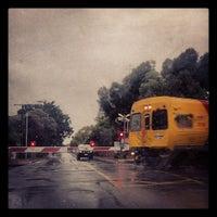 Photo taken at Bowden Railway Station by Matthew G. on 2/29/2012