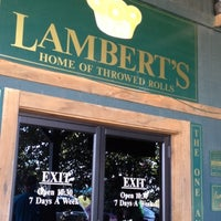 Photo taken at Lambert's Cafe by Kerri B. on 9/2/2012