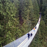 Photo taken at Capilano Suspension Bridge by Hiroki T. on 2/22/2012