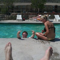 Photo taken at Red Rock Ridge Pool by Taylor E. on 4/10/2012