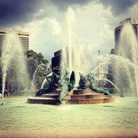 Photo taken at Swann Memorial Fountain by Leslie B. on 8/29/2012