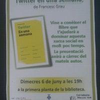 Photo taken at Biblioteca Municipal Emília Xargay by Roger C. on 6/6/2012