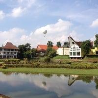 Photo taken at Danau Taman Mini Indonesia Indah by Sigit S. on 2/25/2012