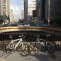Photo taken at Praça do Ciclista by Daniel C. on 4/14/2012