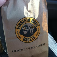 Photo taken at Einstein Bros Bagels by Sally M. on 3/13/2012