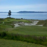 Photo taken at Chambers Bay Golf Course by Carl T. on 5/15/2012