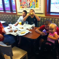 Photo taken at Einstein Bros Bagels by Brian L. on 7/21/2012