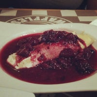 Photo taken at Crepes & Waffles by Daniel C. on 6/17/2012