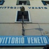 Photo taken at Stazione Vittorio Veneto by Gabriele K. on 4/22/2012