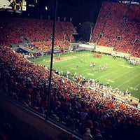 Photo taken at Lane Stadium/Worsham Field by Caroline P. on 9/4/2012