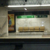 Photo taken at Metro Rossio [VD] by Carla S. on 9/1/2012