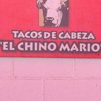 Photo taken at Tacos de Cabeza Chino Mario by Enrique L. on 5/19/2012