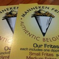 Photo taken at Manneken Frites by Sherri M. on 3/31/2012