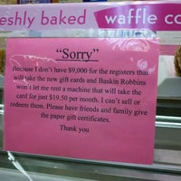 Photo taken at Baskin-Robbins by Tamster A. on 3/26/2012