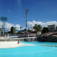 Photo taken at Haginaka Park Swimming Pool by Takeshi M. on 8/19/2012