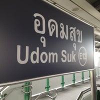 Photo taken at BTS Udom Suk (E12) by นพพร ผ. on 9/7/2012