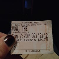 Photo taken at Century Napa Cinedome 8 by Kerry P. on 2/13/2012