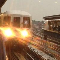 Photo taken at MTA Subway - Rockaway Blvd (A) by Karen K. on 7/18/2012