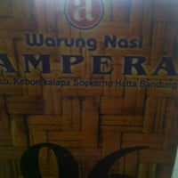 Photo taken at Warung Nasi Ampera by Iezal .. on 8/20/2012