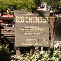 Photo taken at Big Thunder Mountain Railroad by Skyler T. on 7/6/2012