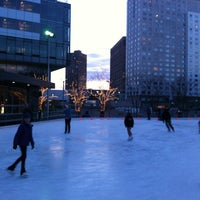 Photo taken at Kendall Square Community Ice Skating by Jonathan B. on 3/10/2012