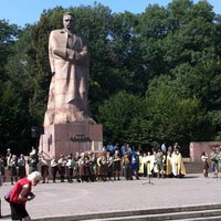 Photo taken at Пам'ятник Івану Франку / Ivan Franko Monument by Serhii K. on 8/24/2012