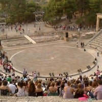 Photo taken at Epidaurus Ancient Theatre by George P. on 7/7/2012