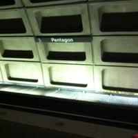 Photo taken at Pentagon Metro Station by Sarah G. on 6/14/2012