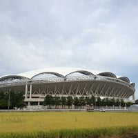 Photo taken at Denka Big Swan Stadium by shim s. on 9/6/2012