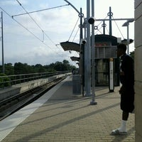 Photo taken at Forest Lane Station (DART Rail) by Monique R. on 6/14/2012