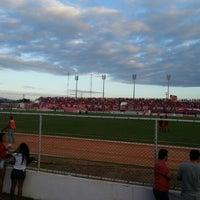Photo taken at Estádio Municipal José Nazareno do Nascimento (Nazarenão) by Roberto M. on 9/1/2012