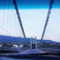 Photo taken at Puente Colgante Libertador (Monumento Nacional) by Romulo C. on 6/22/2012