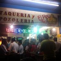 Photo taken at El Rey del Pastor » Taquería y pozolería by Sebastián R. on 8/5/2012