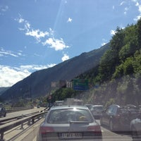 Photo taken at Gotthard Strassentunnel by Karstin O. on 7/13/2012