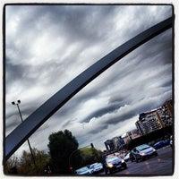 Photo taken at Puente de Ventas by Manu A. on 4/3/2012