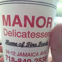 Photo taken at Manor Delicatessen by Silvia E. on 5/29/2012