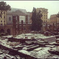 Photo taken at Largo di Torre Argentina by Holly G. on 2/3/2012