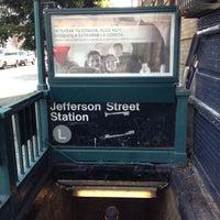 Photo taken at MTA Subway - Jefferson St (L) by Bryan T. on 8/2/2012