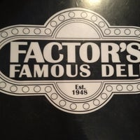 Photo taken at Factor's Famous Deli by Adam R. on 4/13/2012