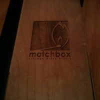 Photo taken at Matchbox Vintage Pizza Bistro by Precyous S. on 4/22/2012