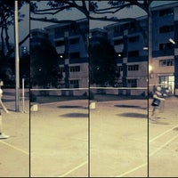 Photo taken at Badminton Court at Blk 1 Hougang Ave 3 by Audrey H. on 5/15/2012