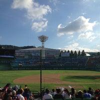 Photo taken at Sajik Baseball Stadium by Pung Yeon C. on 8/26/2012