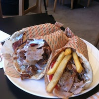 Photo taken at Bobo Souvlaki House by Konstantinos on 8/24/2012